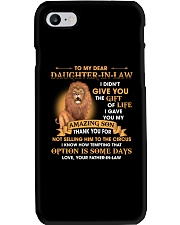 To My Dear Daughter-In-Law From Father-in-law Phone Case thumbnail