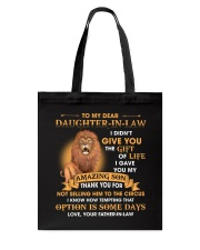 To My Dear Daughter-In-Law From Father-in-law Tote Bag thumbnail