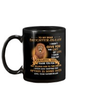 To My Dear Daughter-In-Law From Father-in-law Mug back