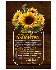 U Are Braver Than U Think Mom To Daughter Vertical Poster tile