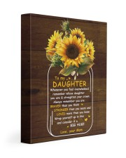 U Are Braver Than U Think Mom To Daughter 11x14 Gallery Wrapped Canvas Prints front