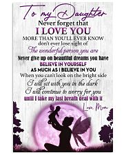 Daughter Never GiveUp On Beautiful Dreams You Have 11x17 Poster front
