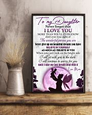 Daughter Never GiveUp On Beautiful Dreams You Have 11x17 Poster lifestyle-poster-3