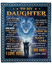 """Its hard to find word to tell You Dad-To-Daughter Fleece Blanket - 50"""" x 60"""" front"""