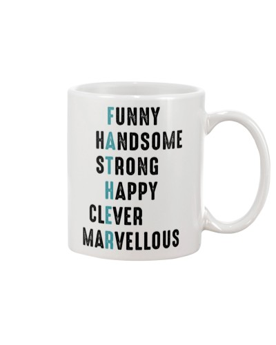 Father Funny Handsome Strong Happy Clever