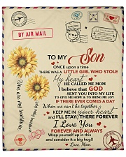 """Son Keep Me In Heart I'll Stay There Forever Fleece Blanket - 50"""" x 60"""" front"""
