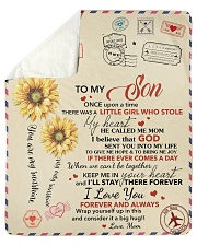 Son Keep Me In Heart I'll Stay There Forever Sherpa Fleece Blanket tile