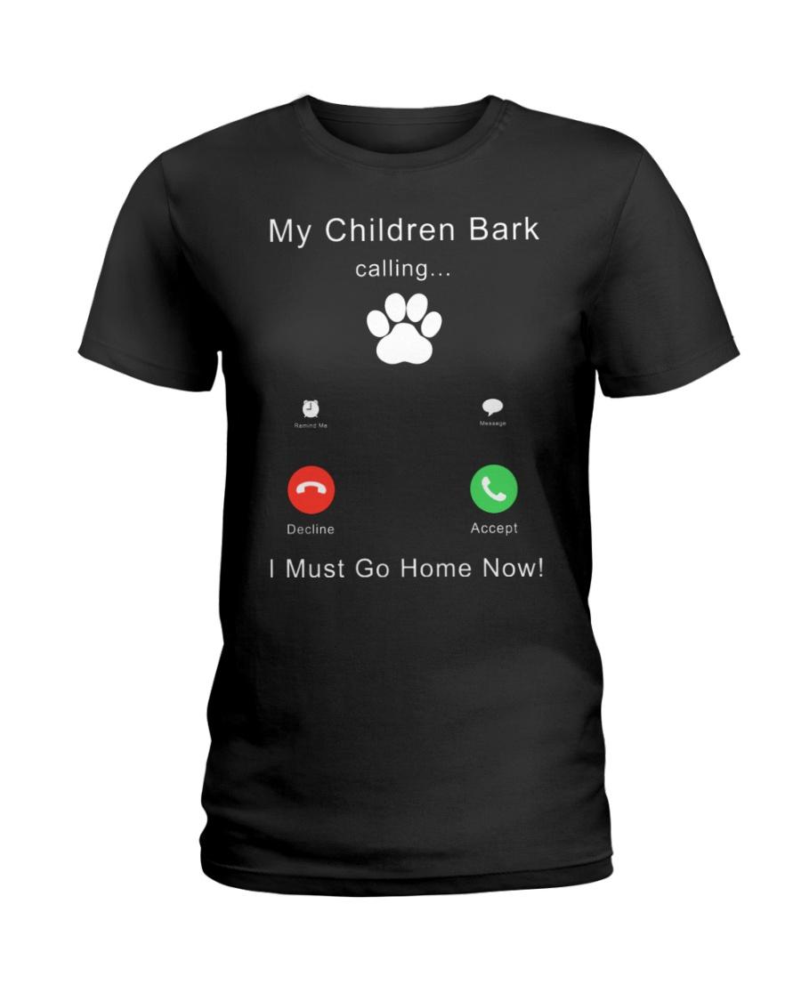 My Children Bark Calling Ladies T-Shirt