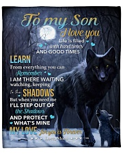 """Life Is Filled With Hardtimes - Wolf Mom To Son Fleece Blanket - 50"""" x 60"""" front"""