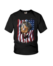 American Flag Tibetan mastiff Youth T-Shirt thumbnail
