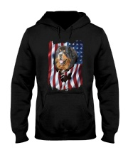 American Flag Tibetan mastiff Hooded Sweatshirt thumbnail