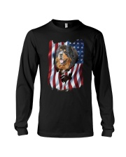 American Flag Tibetan mastiff Long Sleeve Tee thumbnail