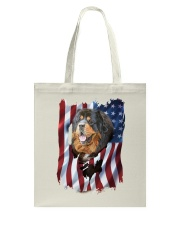 American Flag Tibetan mastiff Tote Bag tile