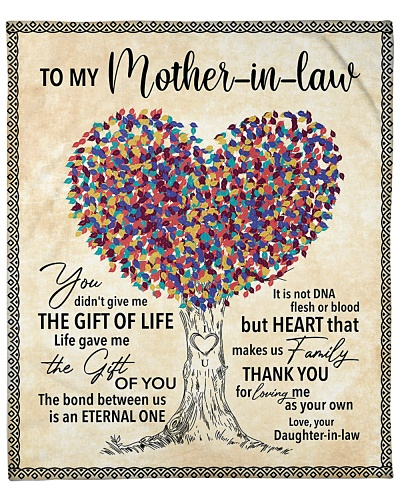 To My Mother-In-Law Thanks 4 Loving Me As Your Own