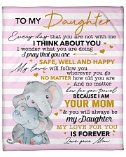 """My Love For U Is Forever Elephants Mom To Daughter Fleece Blanket - 50"""" x 60"""" front"""