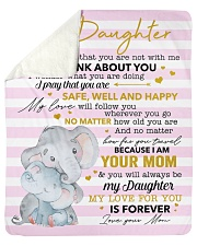 """My Love For U Is Forever Elephants Mom To Daughter Sherpa Fleece Blanket - 50"""" x 60"""" thumbnail"""