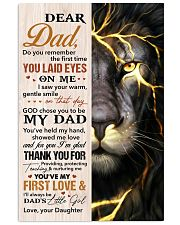 Dad Lion Thanks For Providing And Nurturing Me 11x17 Poster front