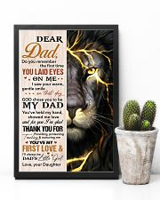 Dad Lion Thanks For Providing And Nurturing Me 11x17 Poster lifestyle-poster-8