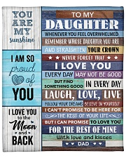 """I Am So Proud Of You Dad To Daughter Fleece Blanket - 50"""" x 60"""" front"""