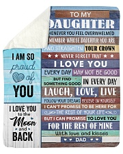 """I Am So Proud Of You Dad To Daughter Sherpa Fleece Blanket - 50"""" x 60"""" thumbnail"""