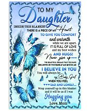 Inside This Blanket There Is Piece Mom To Daughter Vertical Poster tile