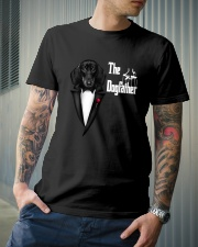The DogFather Dachshund Classic T-Shirt lifestyle-mens-crewneck-front-6