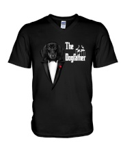 The DogFather Dachshund V-Neck T-Shirt tile