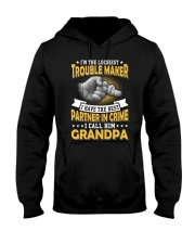 luckiest trouble maker Hooded Sweatshirt tile