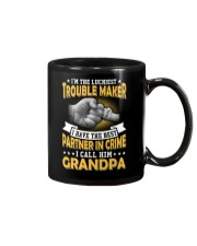 luckiest trouble maker Mug tile