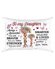 Remember U Are Braver Than U Believe Mom-Daughter Rectangular Pillowcase front