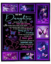 """Daughter Butterfly Use My Last Breath 2Say I LoveU Fleece Blanket - 50"""" x 60"""" front"""