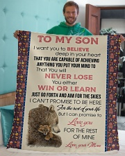 "To My Son Love You For The Rest Of Mine Sherpa Fleece Blanket - 50"" x 60"" aos-sherpa-fleece-blanket-50x60-lifestyle-front-05"