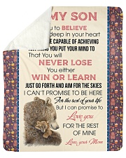 "To My Son Love You For The Rest Of Mine Sherpa Fleece Blanket - 50"" x 60"" front"