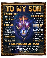 """Little Boy Yesterday Friend Today Lion Mom To Son Fleece Blanket - 50"""" x 60"""" front"""