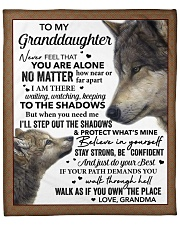 """Never Feel You Are Alone Grandma To Granddaughter Fleece Blanket - 50"""" x 60"""" front"""