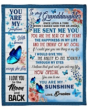 """Once Upon A Time I Asked God GM To GD Fleece Blanket - 50"""" x 60"""" front"""