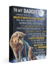 I Want U To Believe Deep In Heart Dad To Daughter 11x14 Gallery Wrapped Canvas Prints front