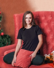 Faith Paw Wine Ladies T-Shirt lifestyle-holiday-womenscrewneck-front-2