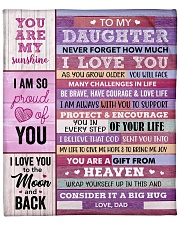 """You Are My Sunshine Dad To Daughter Fleece Blanket - 50"""" x 60"""" front"""