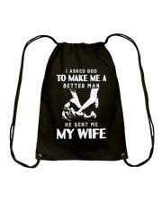God Sent Me My Wife Drawstring Bag thumbnail