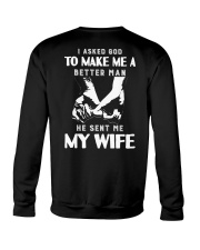 God Sent Me My Wife Crewneck Sweatshirt thumbnail