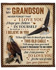 "Never Forget That I Love U Eagle GM To Grandson Fleece Blanket - 50"" x 60"" front"