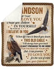 "Never Forget That I Love U Eagle GM To Grandson Sherpa Fleece Blanket - 50"" x 60"" thumbnail"