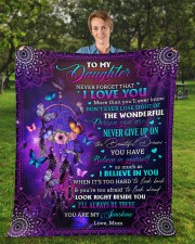 """Never Forget That I Love You Mom To Daughter Fleece Blanket - 50"""" x 60"""" aos-coral-fleece-blanket-50x60-lifestyle-front-01a"""