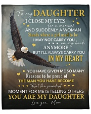 """I Close My Eyes For But A Moment Eagle To Daughter Fleece Blanket - 50"""" x 60"""" front"""