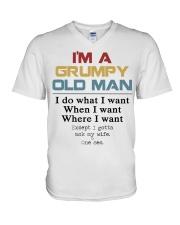 I'm a grumpy old Man  V-Neck T-Shirt thumbnail