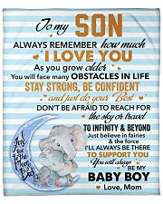 """Always Remember How Much I Love You - Mom To Son Fleece Blanket - 50"""" x 60"""" front"""