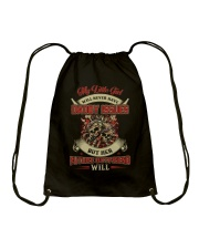 My Little Girl Will Never Have Daddy Issues Drawstring Bag thumbnail