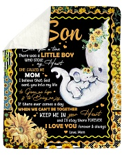 Elephant- Once upon a time Mom-To-Son Sherpa Fleece Blanket tile