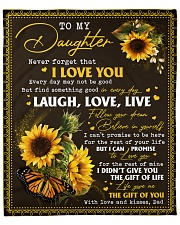 """Never Forget That ILoveU-Sunflower Dad To Daughter Fleece Blanket - 50"""" x 60"""" front"""